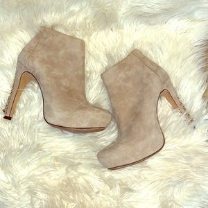 vince camuto cannon suede booties